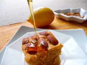 Honey Almond Lemon Cake