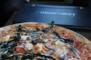 Pizza at The Conservatory