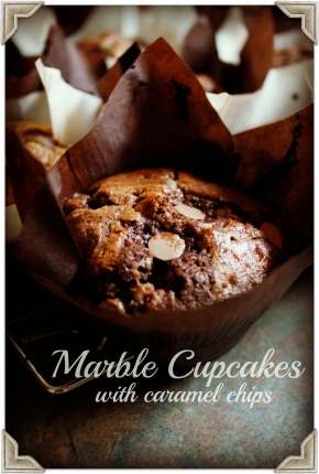 Marble Cupcakes with CaramelChips
