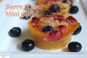 Berry Mochi Mini Cakes