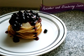 Pancakes with BlueberrySauce
