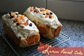 Olive Oil Lemon Pound Cake with Cream CheeseFrosting
